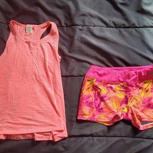 girl Large shorts and tank